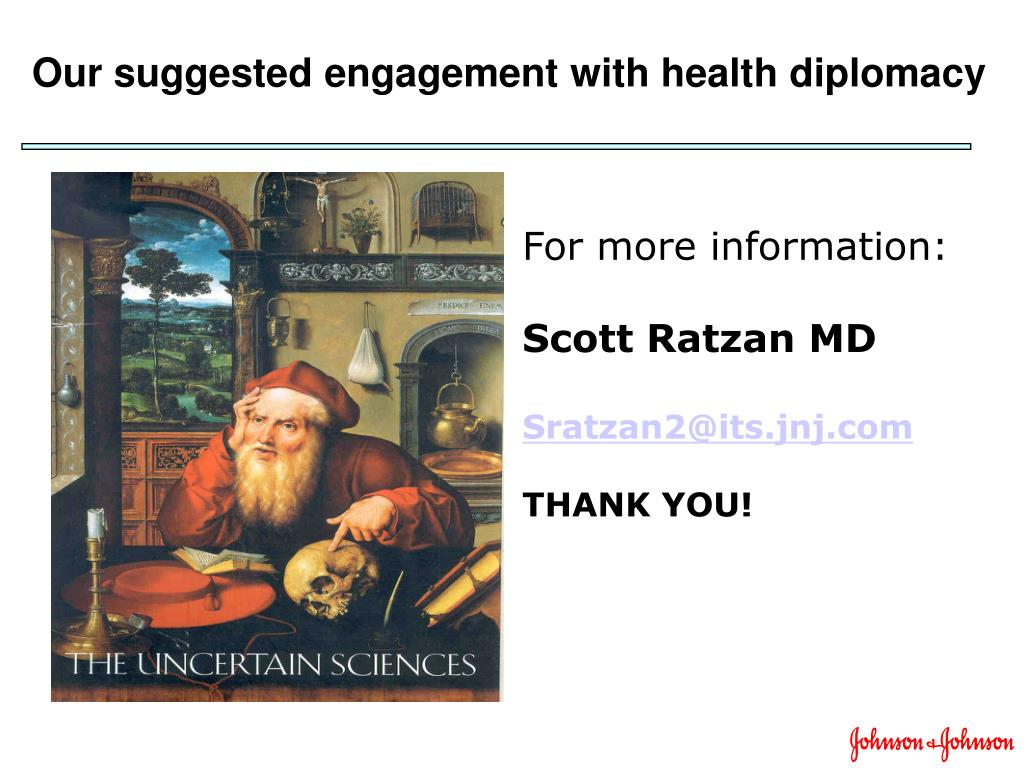 Our suggested engagement with health diplomacy