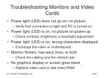 troubleshooting monitors and video cards