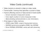 video cards continued24