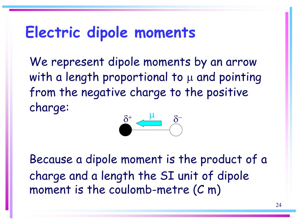 Electric dipole moments