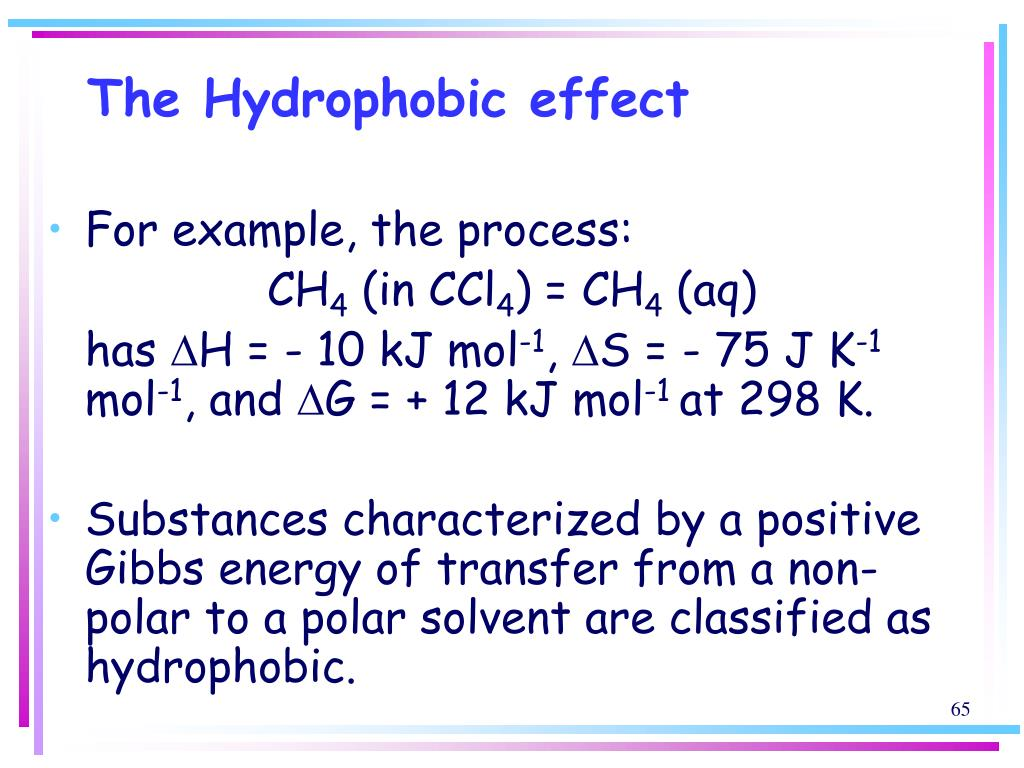 The Hydrophobic effect
