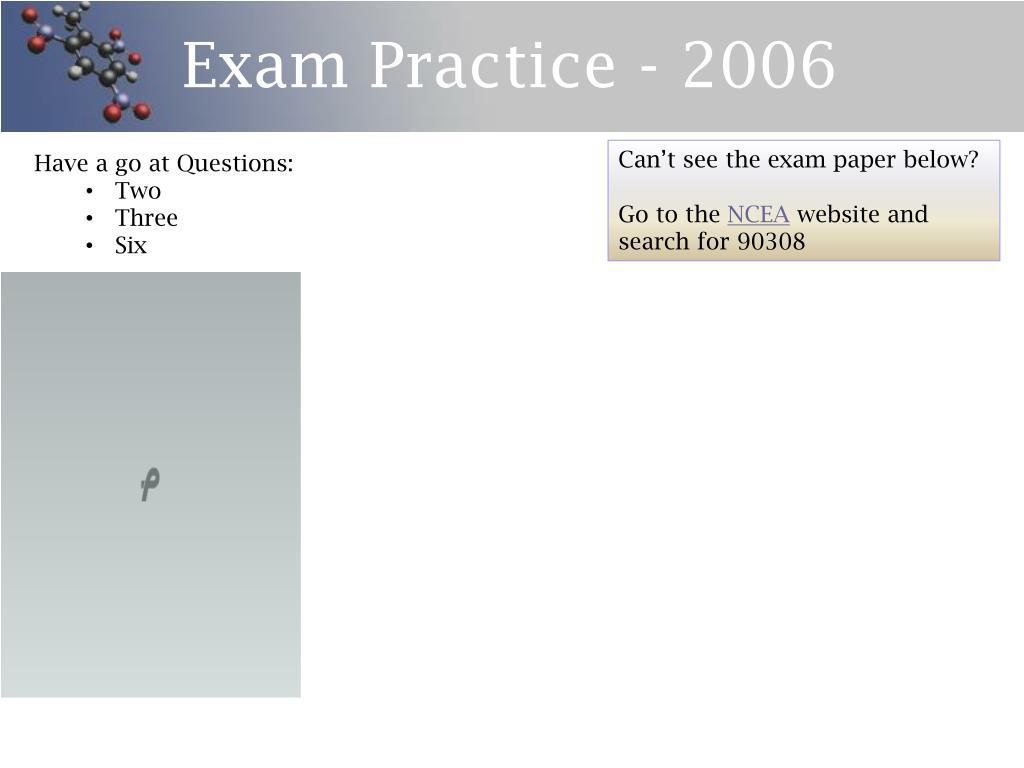 Exam Practice - 2006