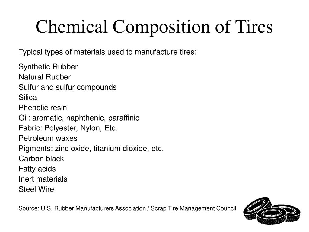 Chemical Composition of Tires