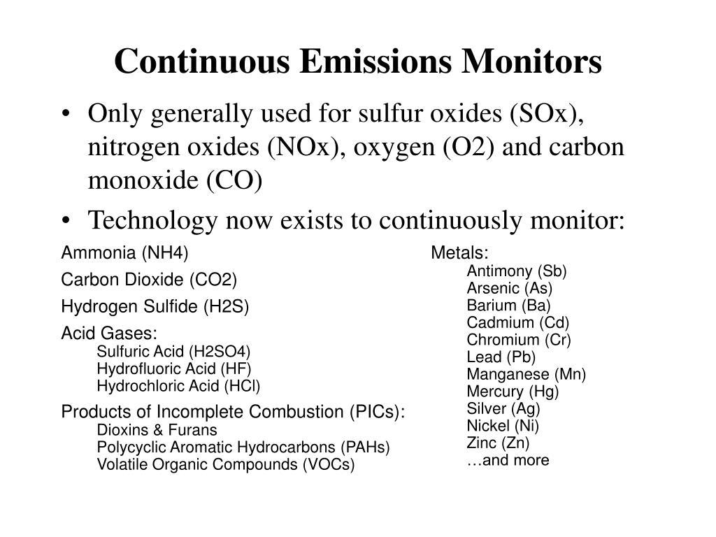 Continuous Emissions Monitors