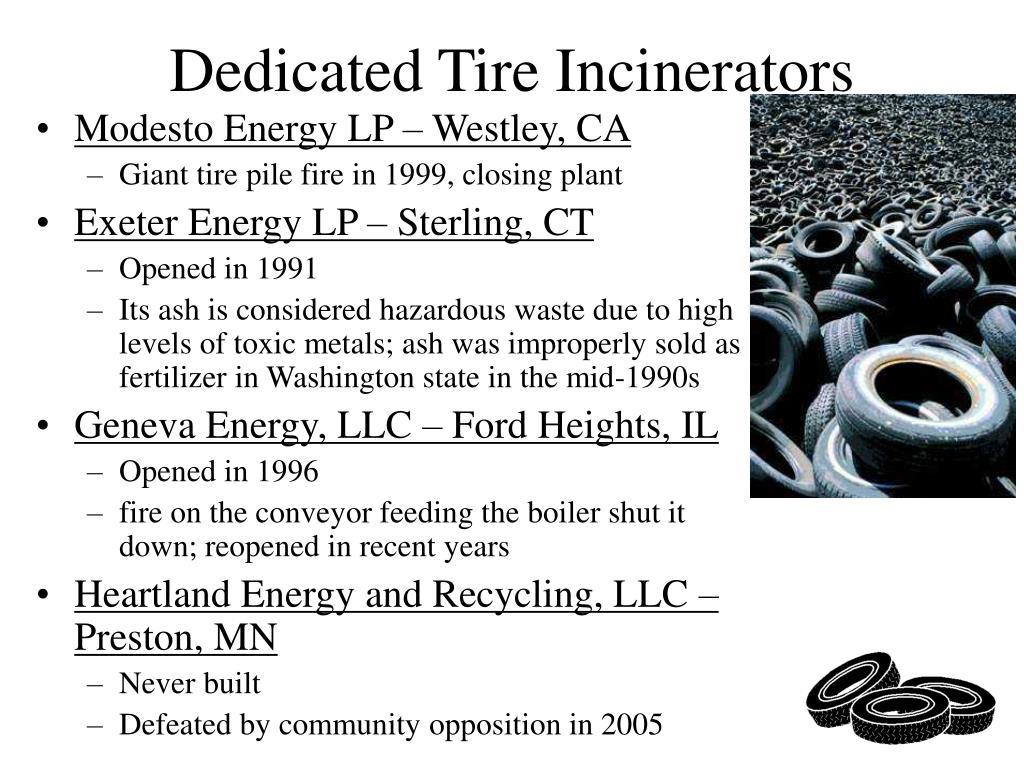 Dedicated Tire Incinerators