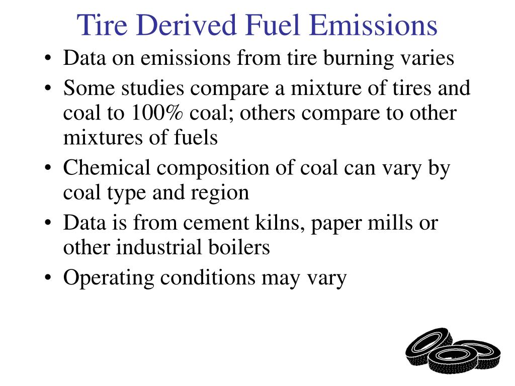 Data on emissions from tire burning varies