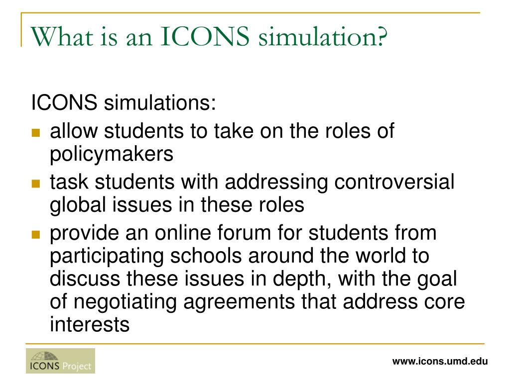 What is an ICONS simulation?