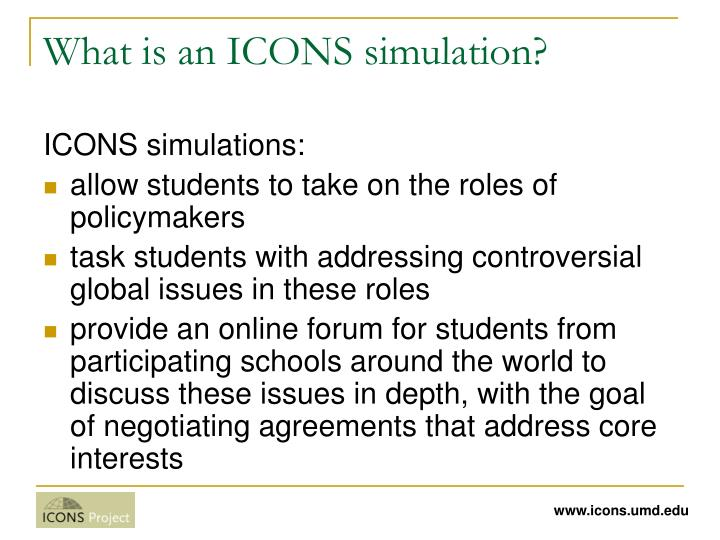 What is an icons simulation