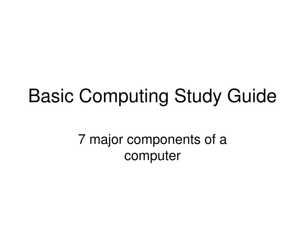 basic computing study guide l.