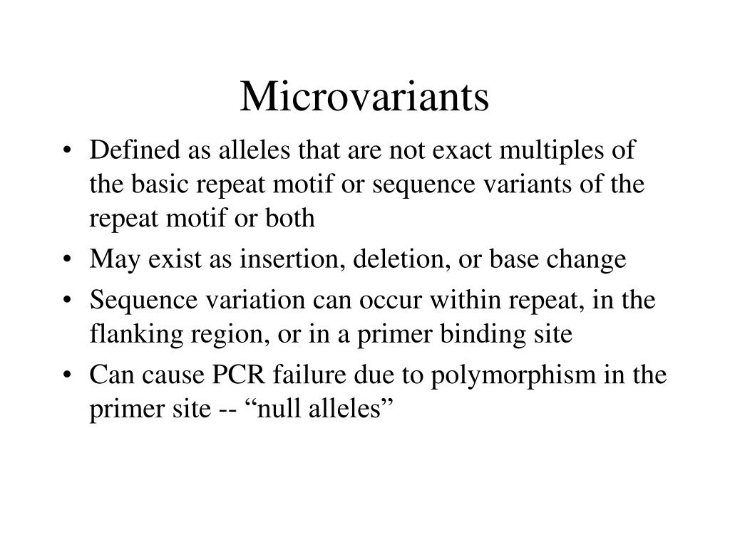 Microvariants