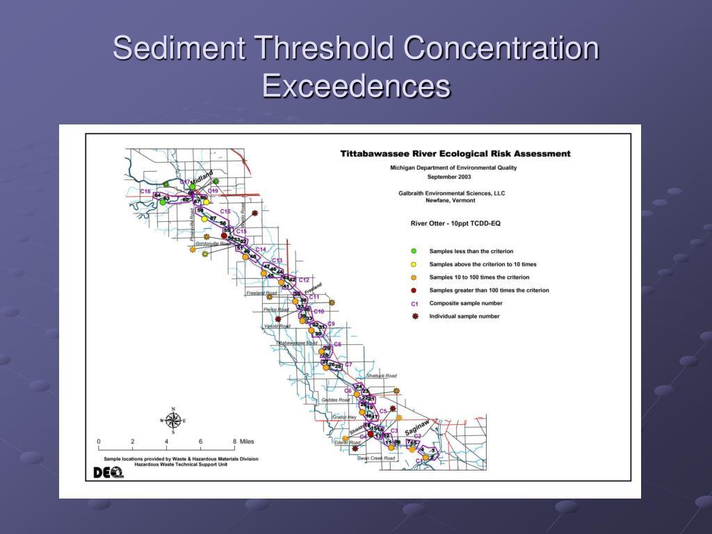 Sediment Threshold Concentration