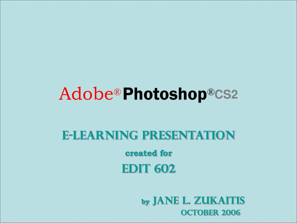 adobe photoshop cs2 l.