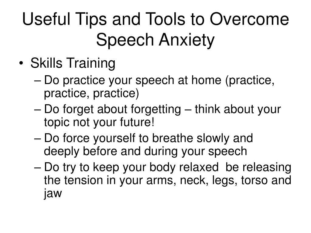 Useful Tips and Tools to Overcome Speech Anxiety