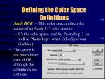 defining the color space definitions27