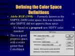 defining the color space definitions29