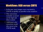 workflows rgb versus cmyk
