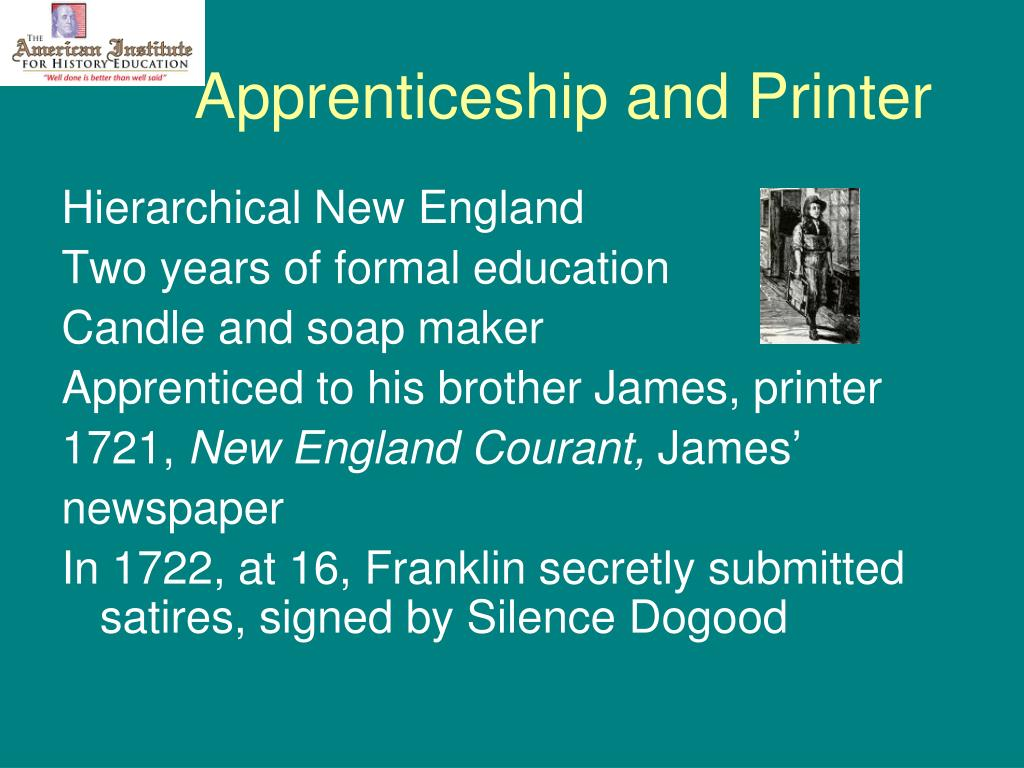 Apprenticeship and Printer