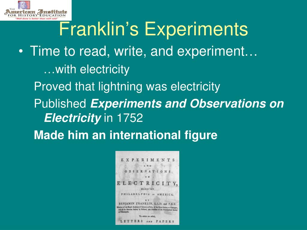Franklin's Experiments