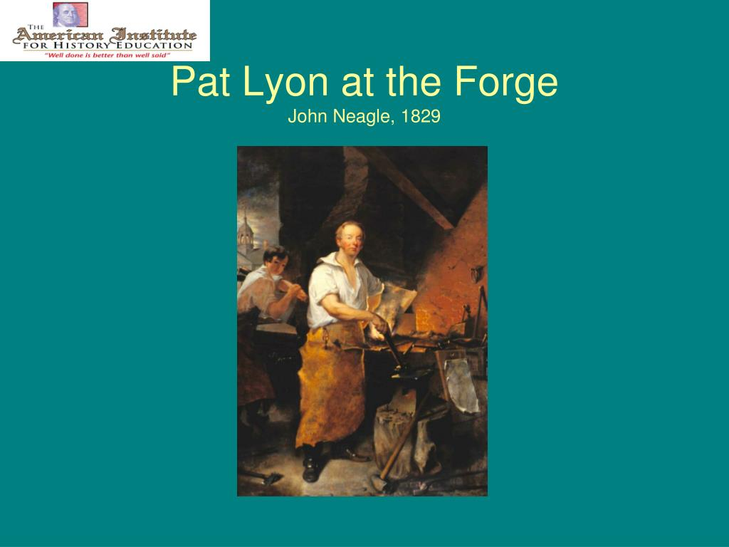 Pat Lyon at the Forge