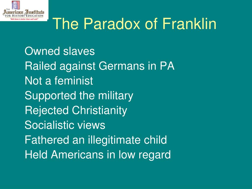 The Paradox of Franklin