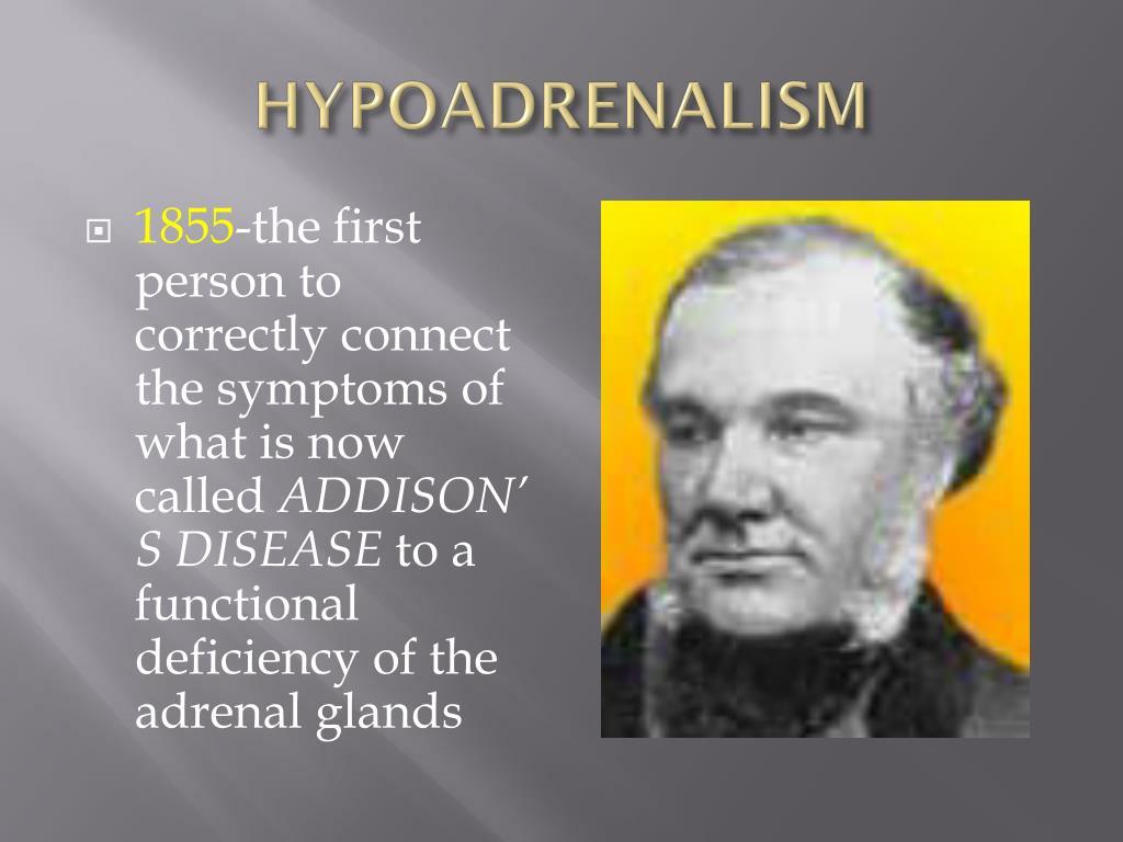 HYPOADRENALISM