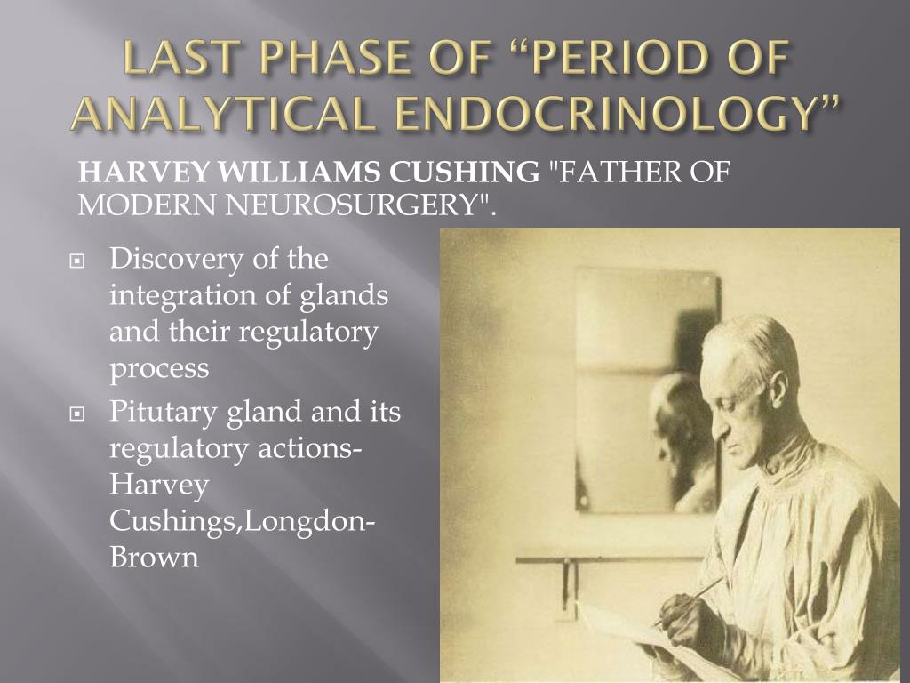 """LAST PHASE OF """"PERIOD OF ANALYTICAL ENDOCRINOLOGY"""""""
