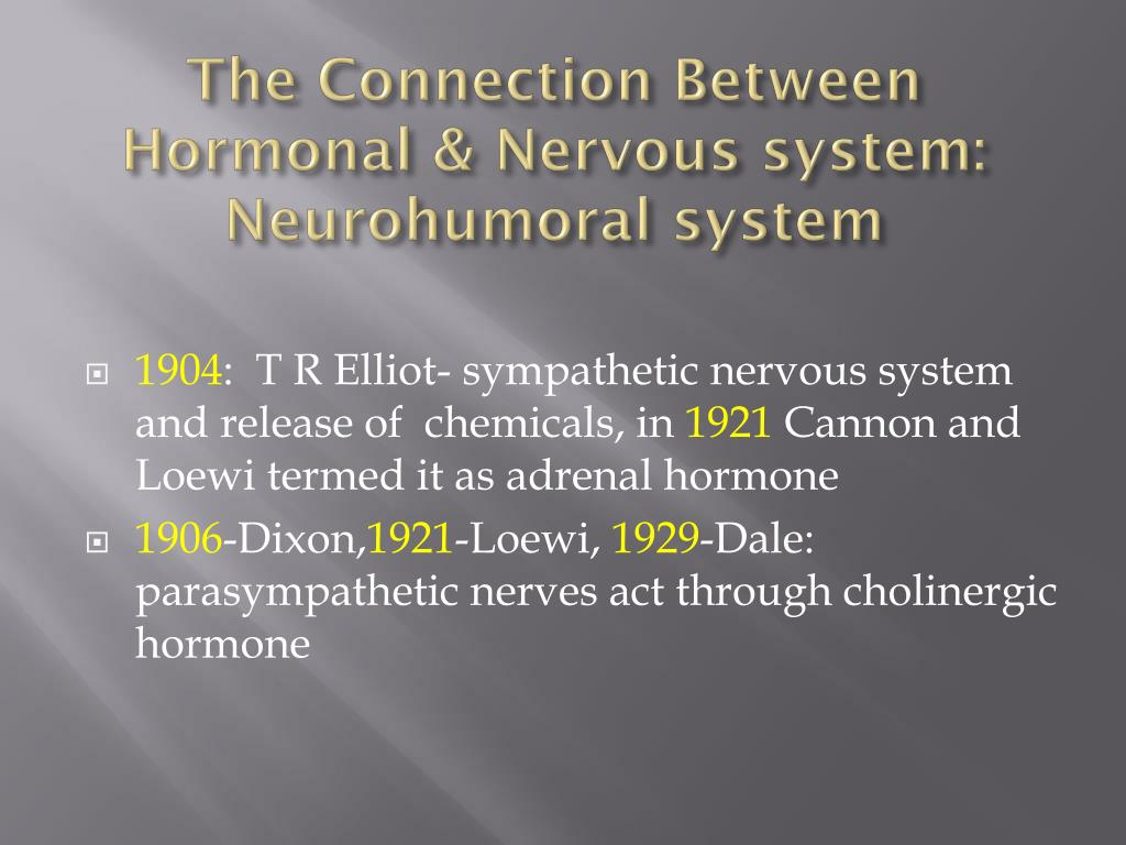 The Connection Between Hormonal & Nervous system: