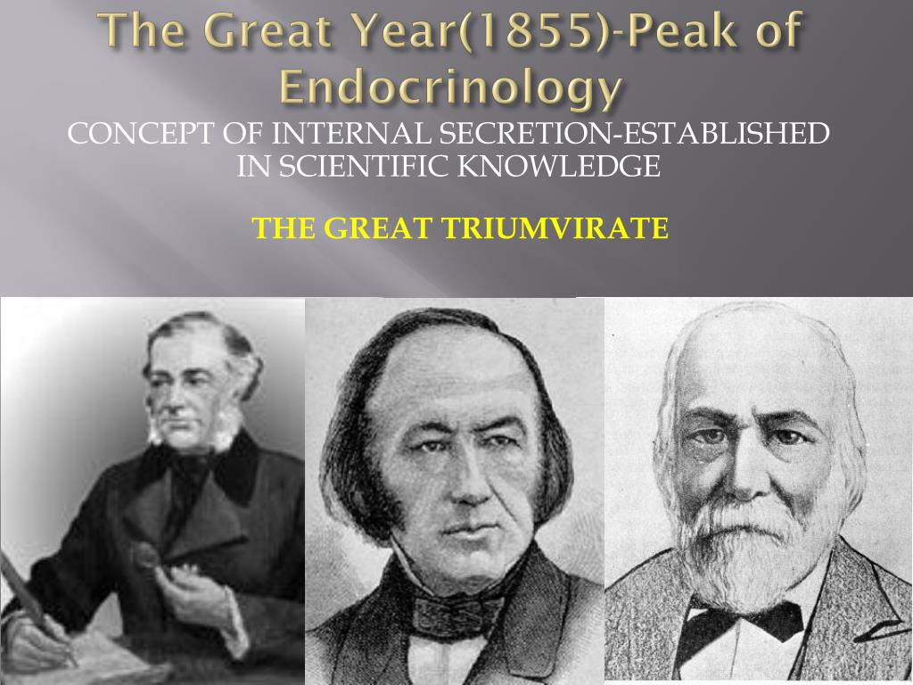 The Great Year(1855)-Peak of Endocrinology