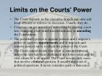 limits on the courts power