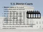 u s district courts