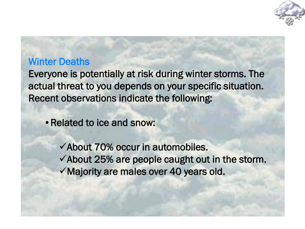 Winter Deaths