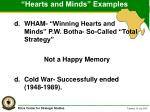 hearts and minds examples