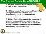 the current debate re africom 2