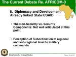 the current debate re africom 3