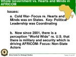 whole government vs hearts and minds in africom