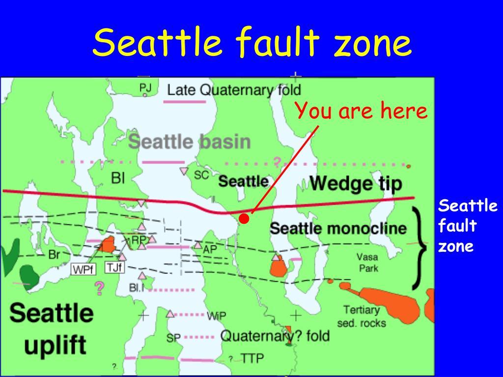 Seattle fault zone