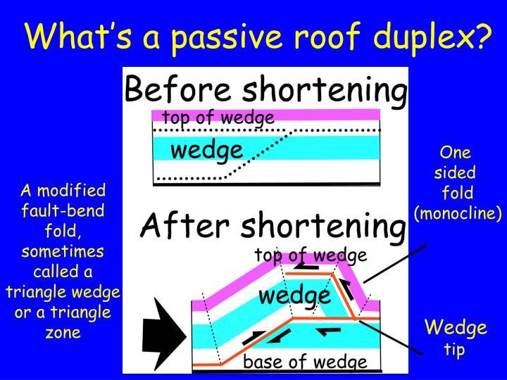 What s a passive roof duplex