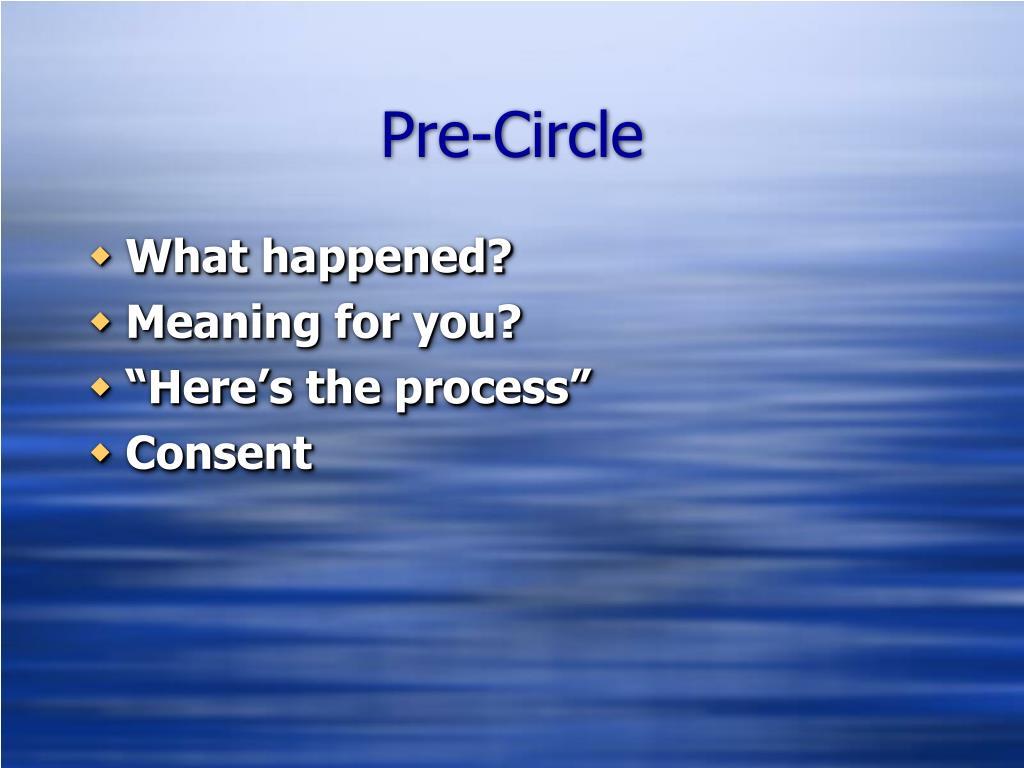 Pre-Circle