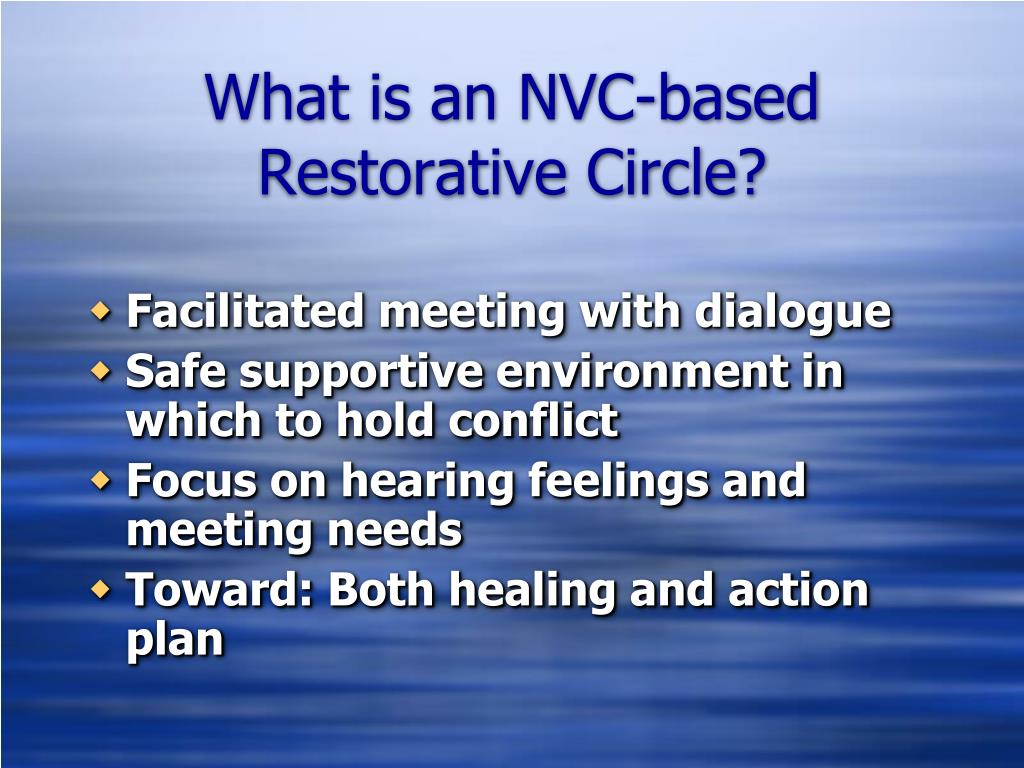 What is an NVC-based Restorative Circle?