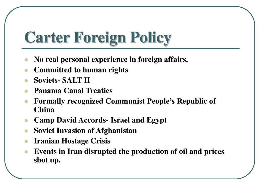 Carter Foreign Policy