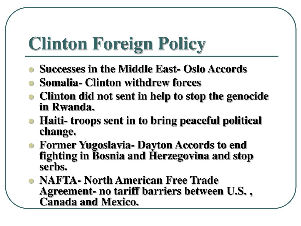 Clinton Foreign Policy