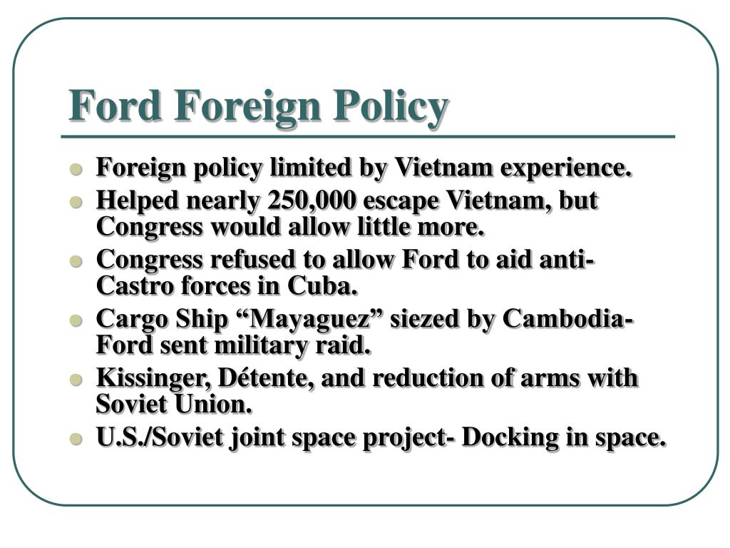 Ford Foreign Policy