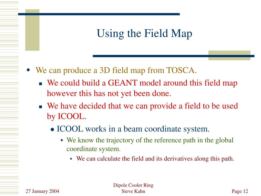 Using the Field Map