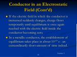 conductor in an electrostatic field cont d