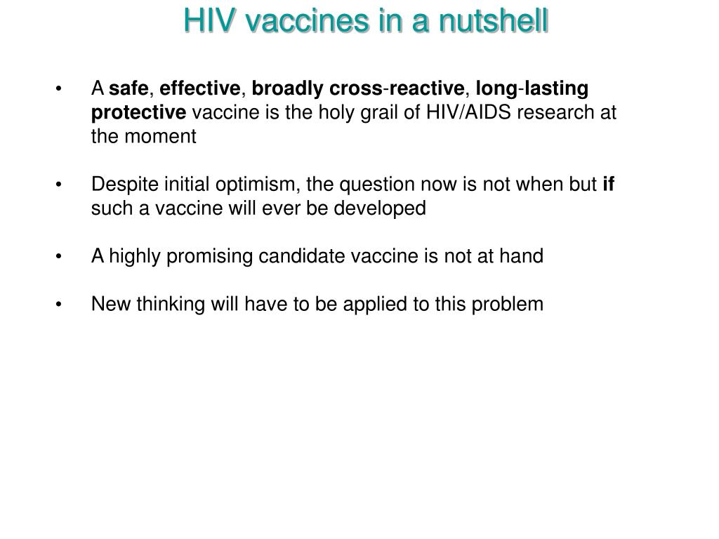HIV vaccines in a nutshell