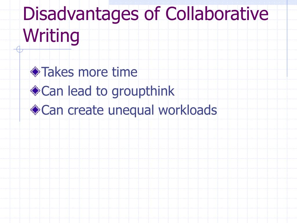 Disadvantages of Collaborative Writing