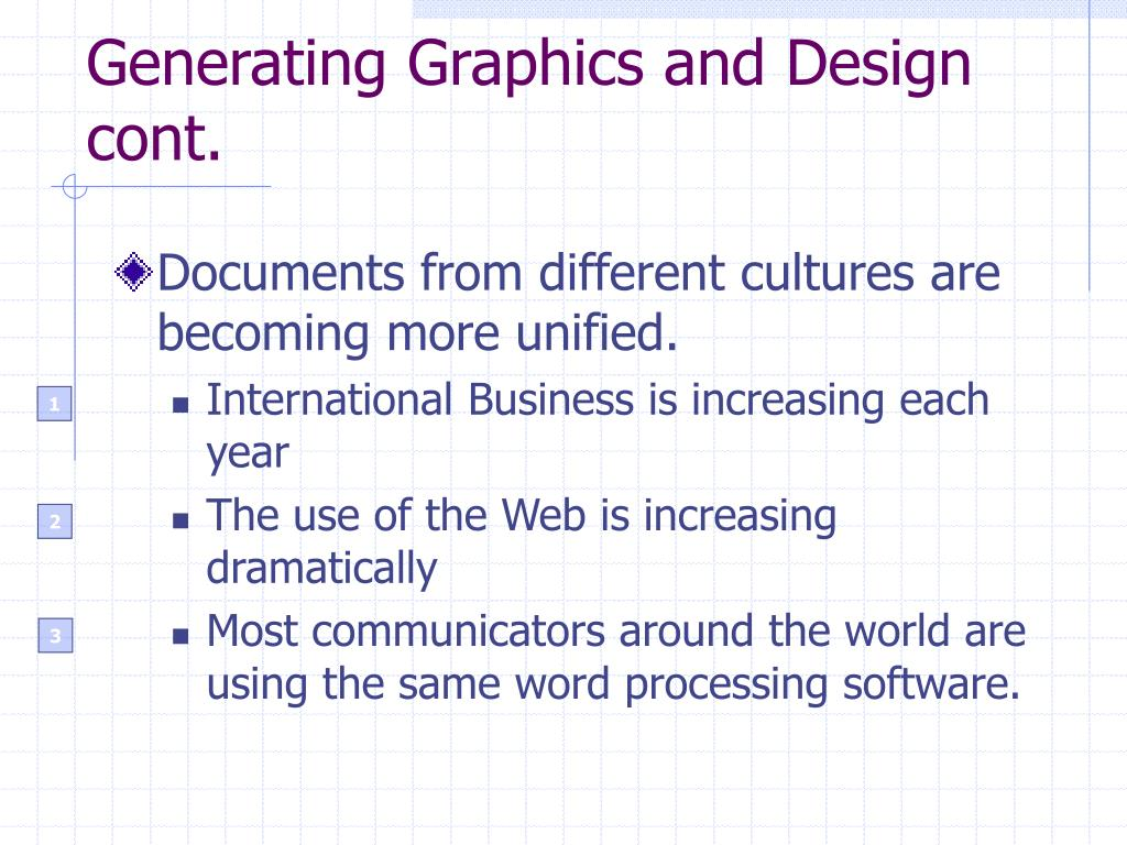 Generating Graphics and Design cont.