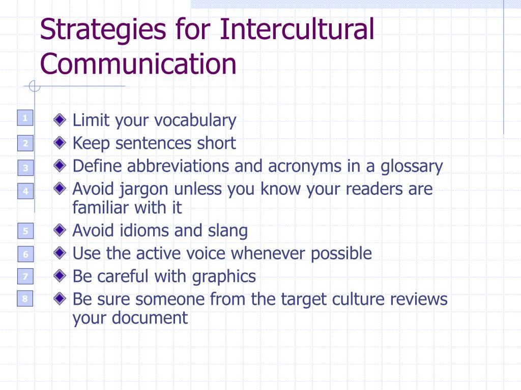 Strategies for Intercultural Communication