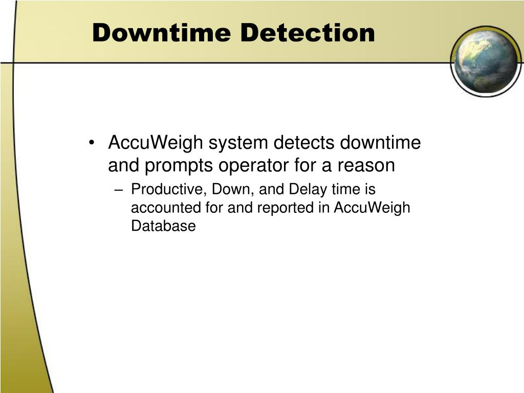 Downtime Detection