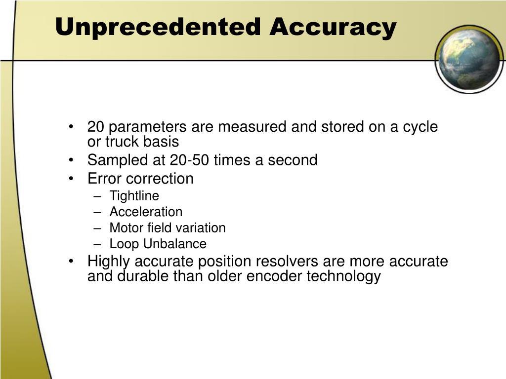 Unprecedented Accuracy